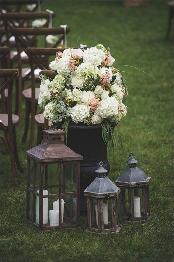 Wedding Ceremony Decorations Lanterns : Ideas about backyard wedding decorations on