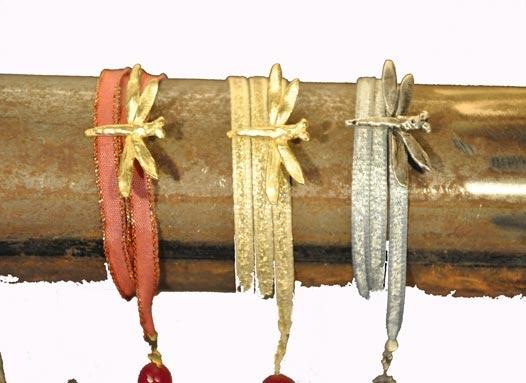 Dragonfly bracelets... Do you prefer them  golden, red or silver?