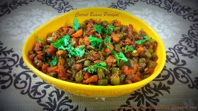Carrot Beans Poriyal Recipe-How to make Carrot Poriyal