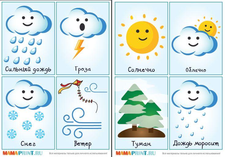 Картинки природы для календаря погоды