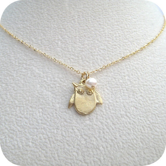 gold owl necklace: Jewelry Necklaces, Chiomega, Gold Owl, Owl Necklaces, Owl Jewelry, Baby Owl, Full Moon, Gold Necklaces, Moon Owl