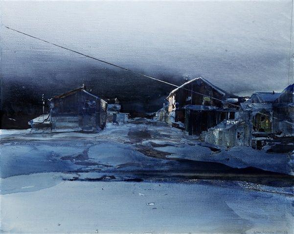 Lars Lerin (Swedish painter), watercolor