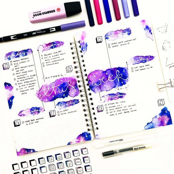 Bujo Beautifully How To Get The Effect Of Watercolor With Markers