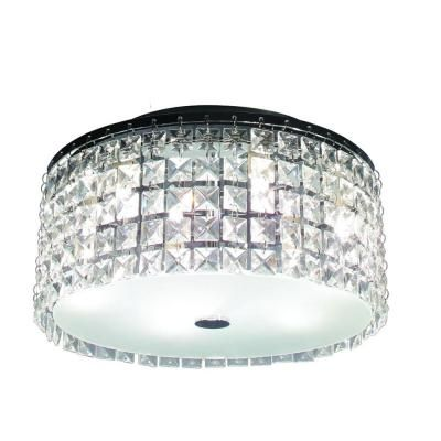 Hampton Bay Glam Cobalt 3-Light Brushed Chrome Ceiling Light-PL3413CC - The Home Depot