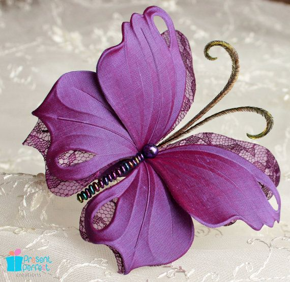 Purple butterfly headdress purple wedding by PresentPerfectStudio, $50.00