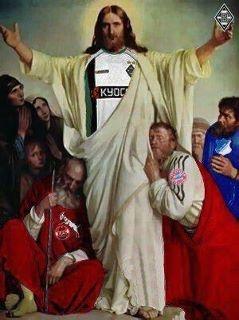 endlich bewiesen- Jesus war ein Gladbach Fan.