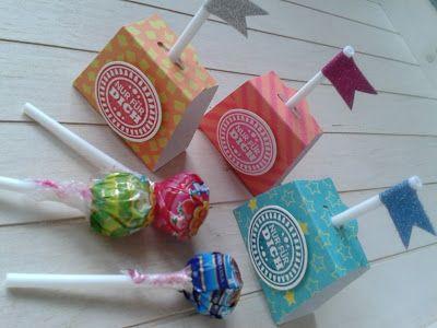 Papierschneiderei: Lolli - Verpackung