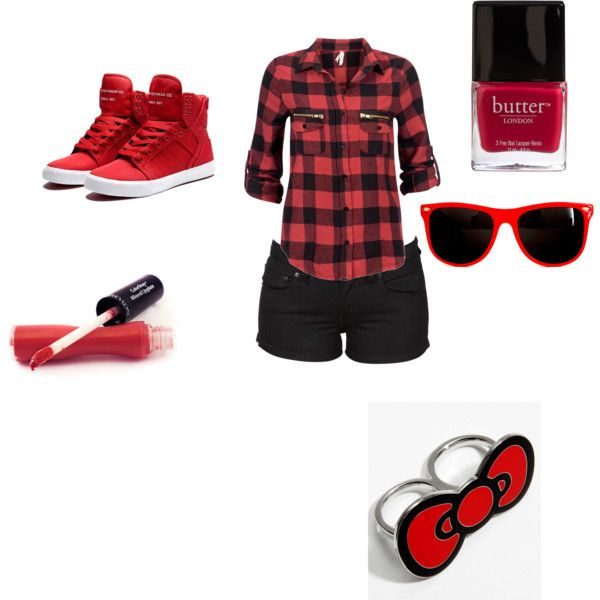So cute love the outfit:),created by scene-girl-foreva on Polyvore except the ring and more black