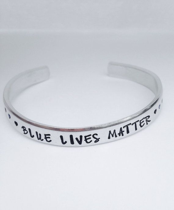 Police jewelry blue lives matter-police by ChristinesImpression