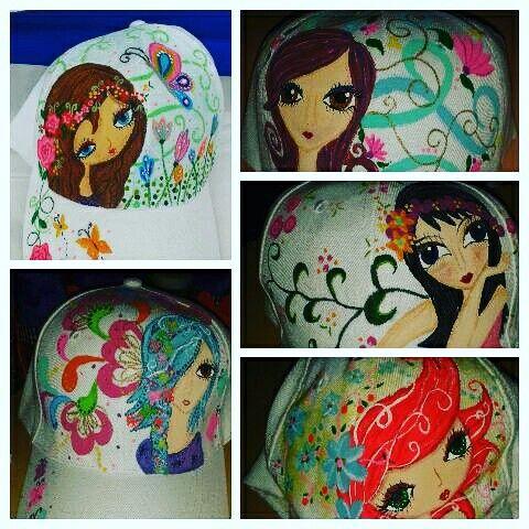 Gorras pintadas a mano. Personalizadas