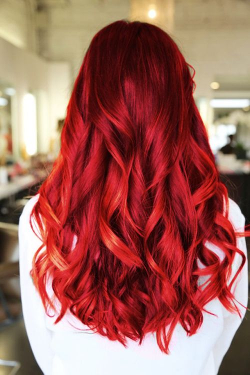 Vibrant red Colored hair