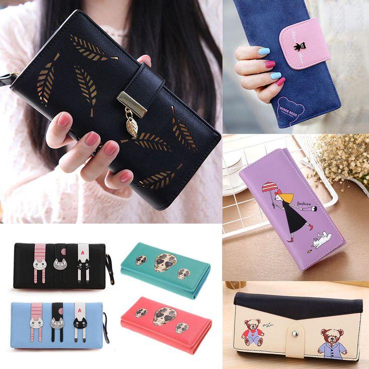 Fashion Clutch Change Coin Card Bag Women Purse Lady Handbag Zipper Large Wallet