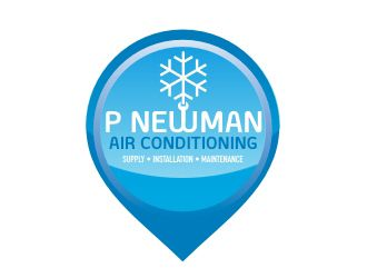 My Winning Logo Design for P Newman Air Conditioning