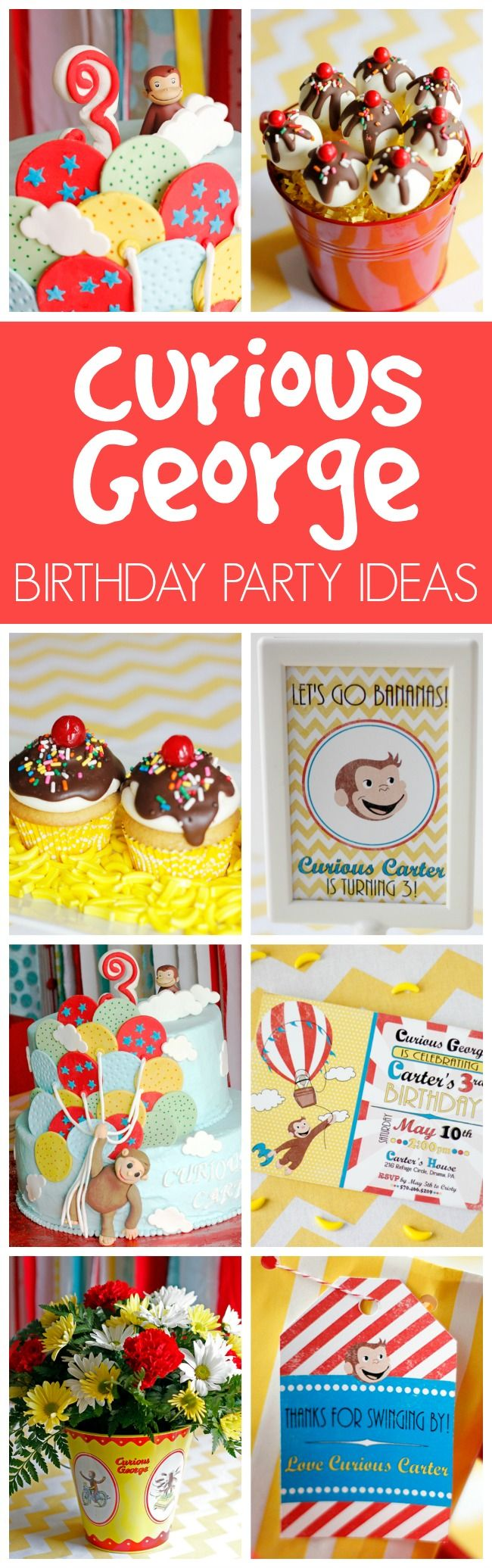 204 Best Curious George Party Ideas Images On Pinterest Curious