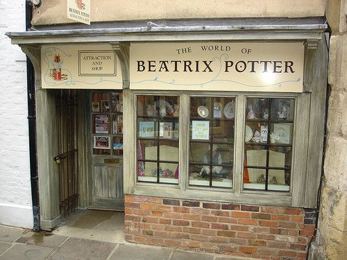 'House of The Tailor of Gloucester - Beatrix Potter Shop and Museum' in Gloucester, England, UK. Beatrix Potter created one of her most loved characters here: The Tailor of Gloucester. This charming shop and museum, housed the same building that inspired the very story and is used in the illustrations... Displays bring her favourite story to life.