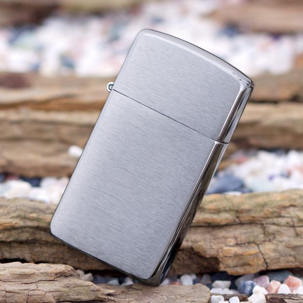 Zippo Slim Windproof Brushed Chrome Lighter