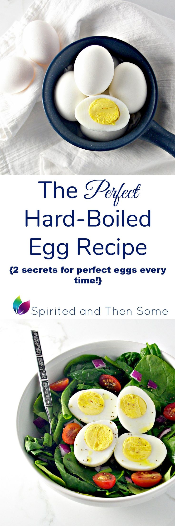 The Perfect Hard-Boiled Egg Recipe comes with two secrets for perfect eggs every time!