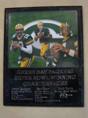Green Bay Packers Super Bowl winning QBs plaque - New Lower Pricing!!
