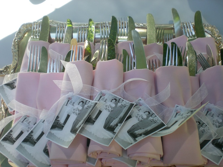 Beautiful idea for anniversary party.....will use this