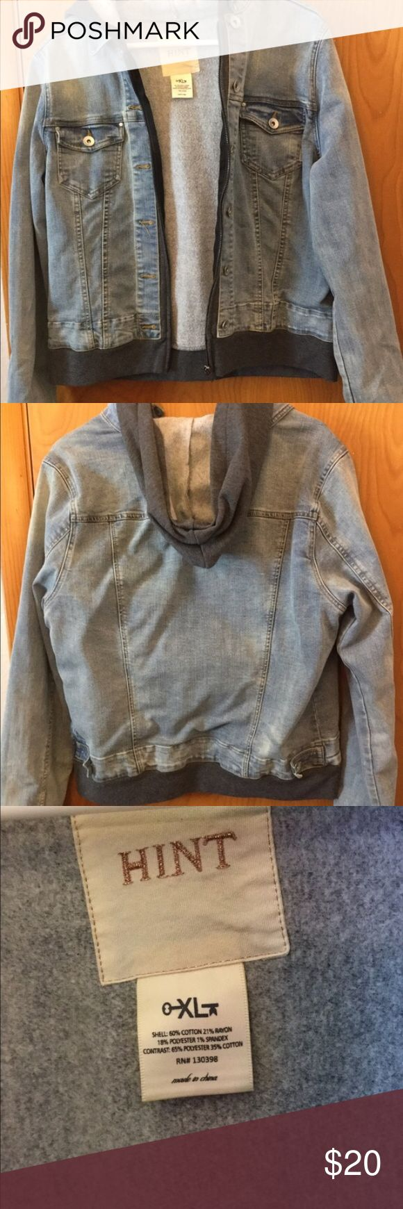 Hooded Jean jacket Bought from a fellow posher. Didn't like the fit on me but it's an awesome coat and perfect Condition Jackets & Coats Jean Jackets