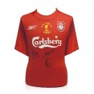 2005 Liverpool Champions League Shirt Signed By The Goalscorers, Steven Gerrard, Xabi Alonso and Vladimir Smicer
