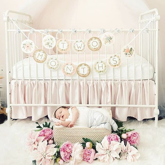 Has two months ever looked so sweet?  Completely obsessed with floral accents in newborn photography, aren't you?? Amazing!