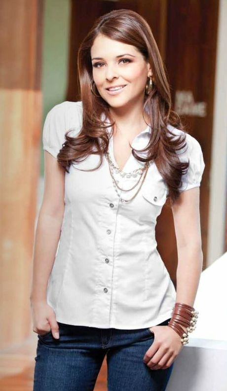 blusa blanca  jean azul  moda para mujer  oto u00f1o invierno 2012  modaclub