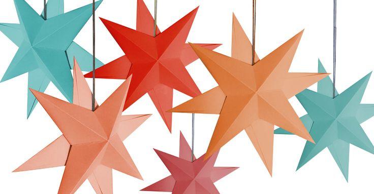 Vilken stjärna! Så enkelt viker du snygg dekoration av papper