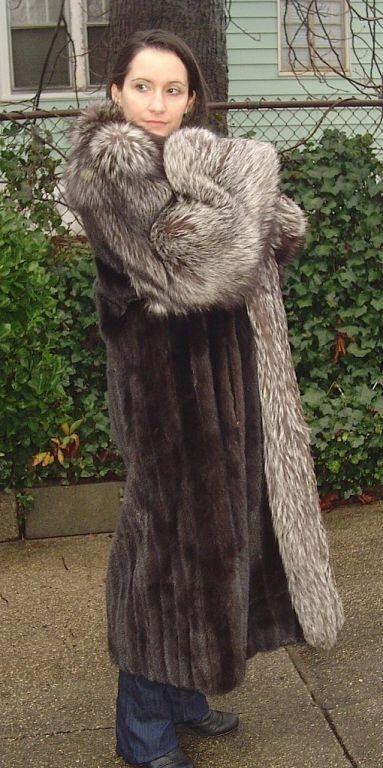 mink & silver fox fur coat   Silver fox and indigo   Pinterest ...