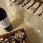 Rake wine glass holder.  Nifty! Rustic, resourceful, elegant, quirky