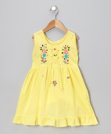 Take a look at this Yellow Lily Dress - Toddler & Girls by Little Cotton Dress on #zulily today!