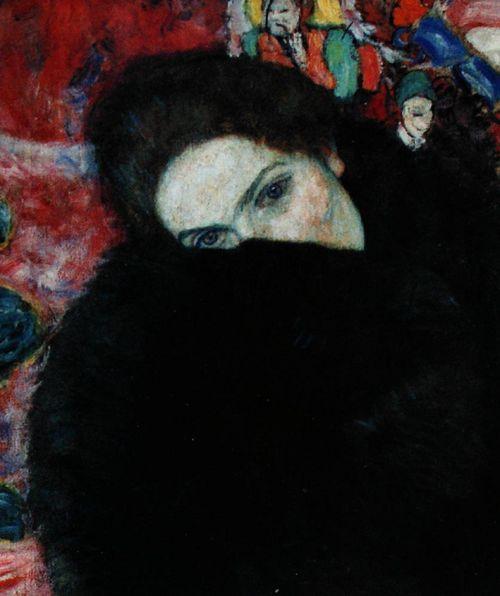 artemisdreaming:    Lady with Muff,1916, Gustav Klimt
