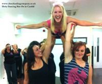 Amazing lift from one of The Cheerleading Company's #Dirtydancing dance lesson #hen do in #Cardiff. Dance hen parties available nationwide with The Cheerleading Company.