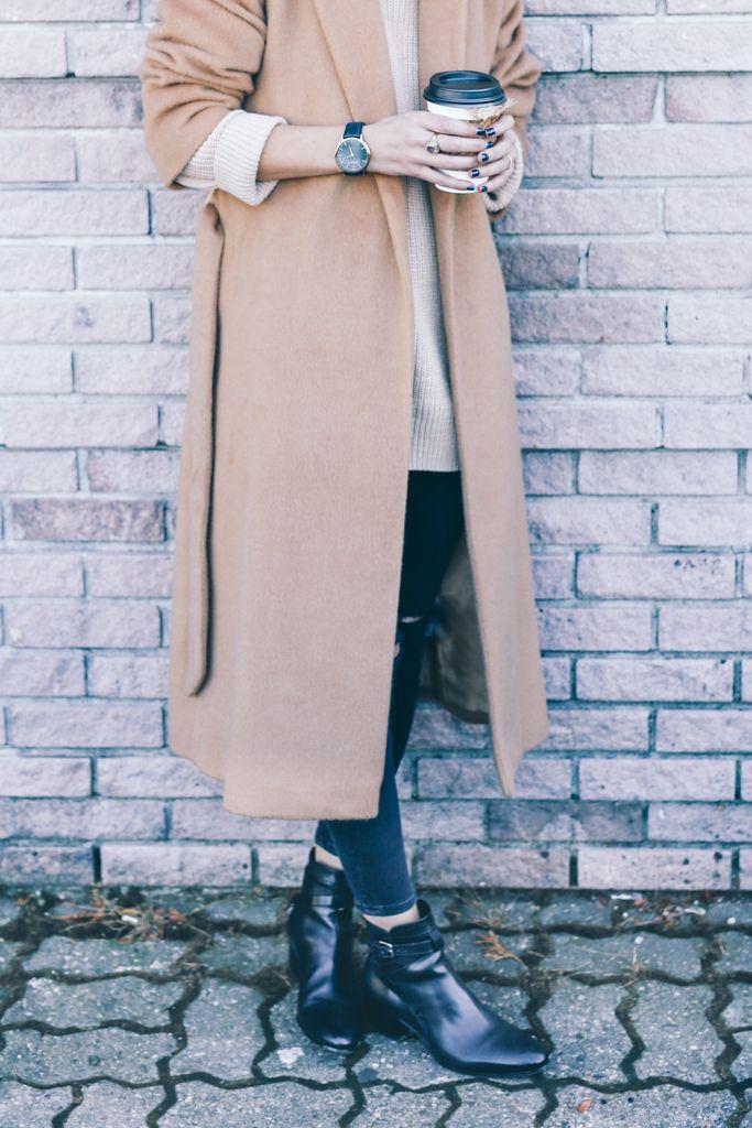 camel robe coat saint laurent ankle boots Prosecco & Plaid