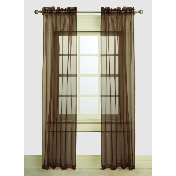 "Set of 2 Sheer Curtains - Length 84"" - GREAT VALUE EVERYDAY! - Bouclair Home"