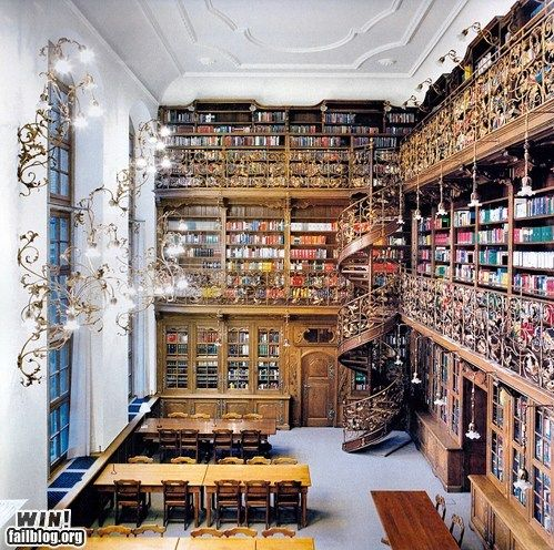 Look at this awesome library. LOOK AT IT.