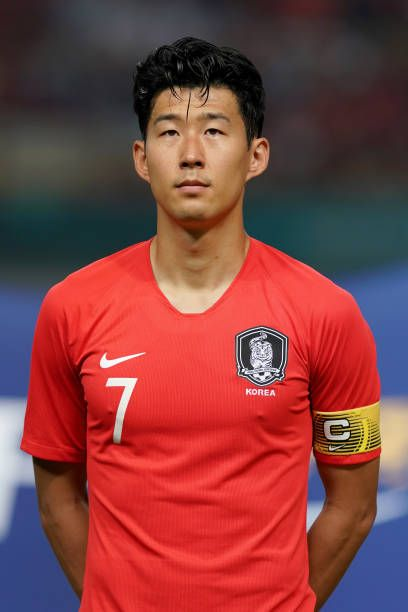 Son Heung Min of South Korea looks on prior to kick off during the Men s  football competition of the last 16 elimination match between Iran and South . 15c391fb1