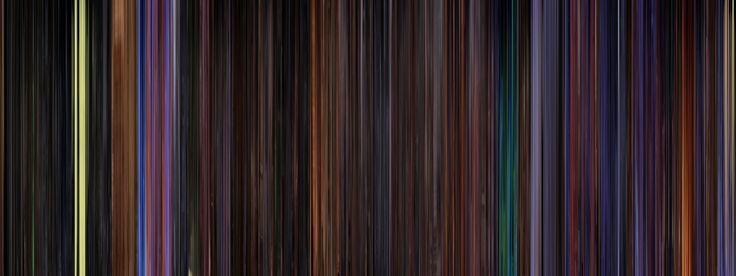 Moviebarcode takes every frame in a film, compresses it into a barcode-type image, and wows you with a unique way to view that movie's color palette. This one is from The Nightmare Before Christmas.
