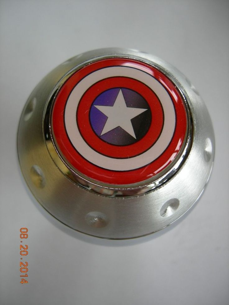 Captain America Shield Logo Gear Shift Knob Transmission