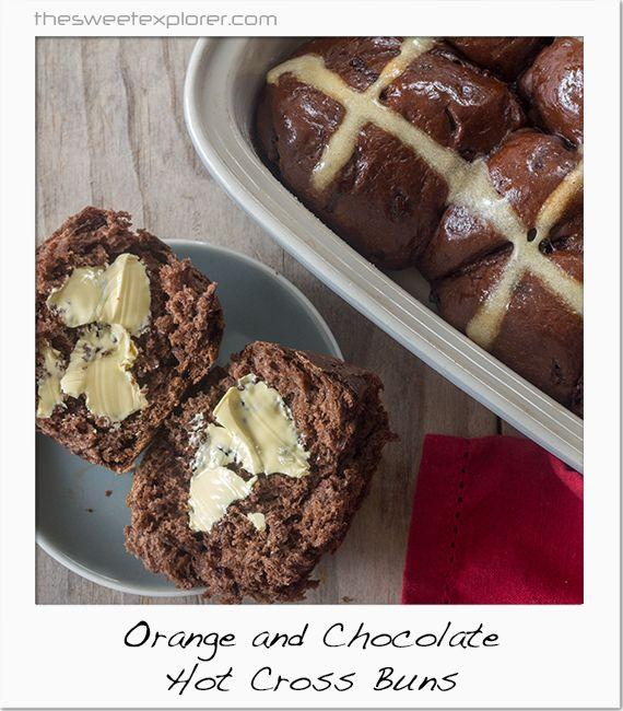 Orange & chocolate Hot Cross Buns