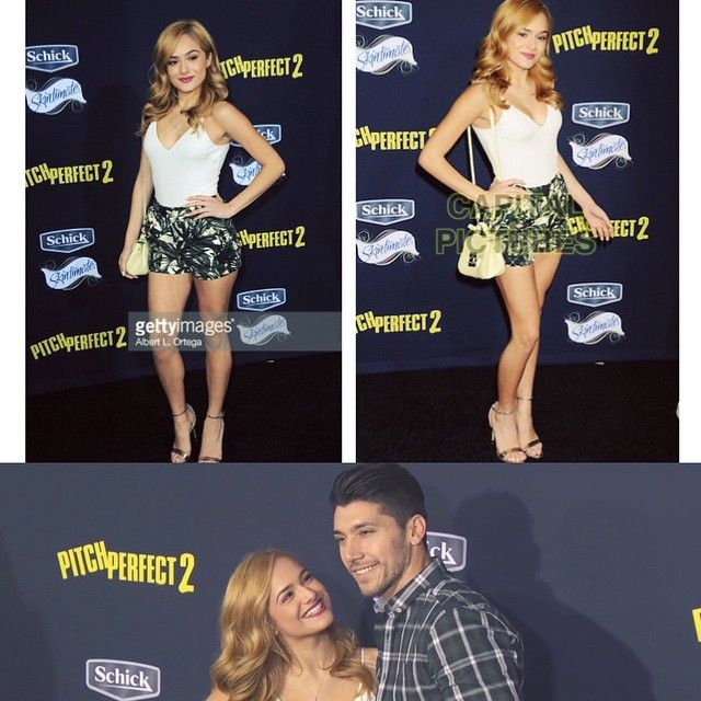 Chachi and Josh Leyva at the Pith Perfect 2 premire
