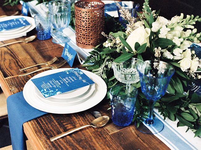 Industrial, Blue-Hued Wedding Inspiration at The Estate on Second   Green Wedding Shoes Wedding Blog   Wedding Trends for Stylish + Creative Brides