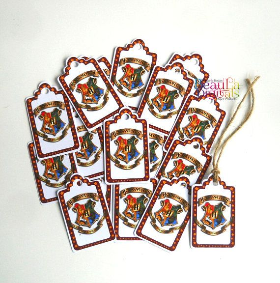 Harry Potter Tags  Hogwarts Shield  Small Swing Tags Paper