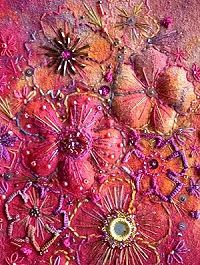 "Floral Fantasia Silk & Textile Creative Embroidery Kit - Floral Fantasia kit includes templates, gorgeous fabrics & threads, skeins of space-dyed threads, metallic thread, wadding, beads & embellishments, plus a self erasing marker pen too ! Everything is included to produce this beautiful creative textile embroidery, embellished with pretty beads & sequins.Design size: 9.5"" x 7.5"" (24 x 19cm)"