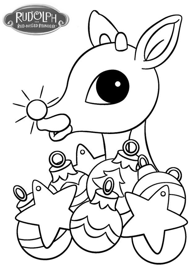Rudolph With Christmas Ornament Coloring Page Rudolph Coloring Pages Christmas Ornament Coloring Page Free Christmas Coloring Pages