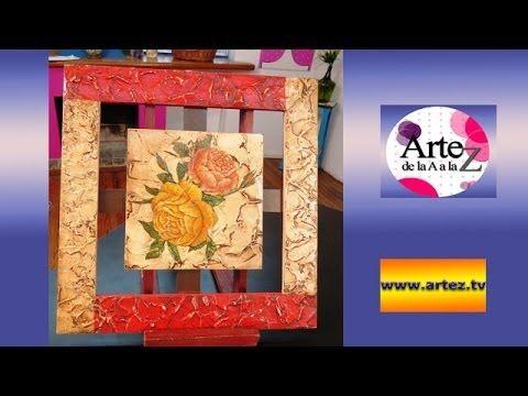 Crea un cuadro con texturas y servilletas - YouTube