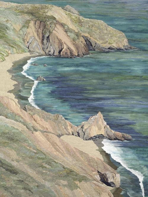 Merle Axelrad Serlin's fabric collages Marin Headlands... check out her portfolio... beautiful work!