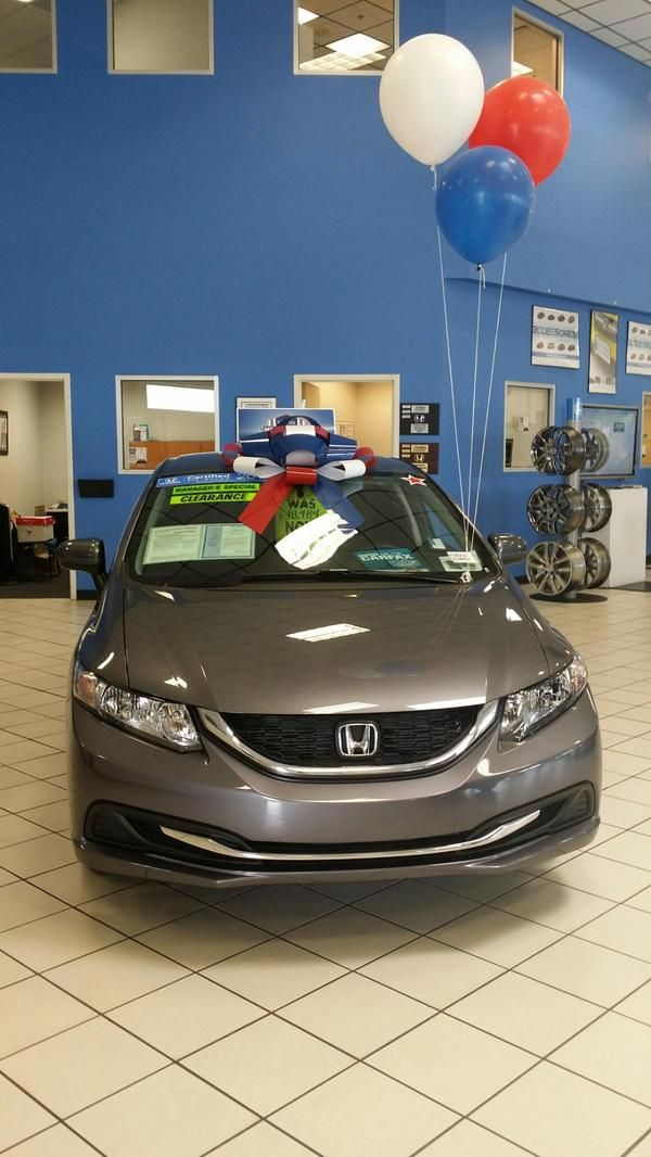 Pre Owned Honda Civic - All wrapped and ready to go for a ride.