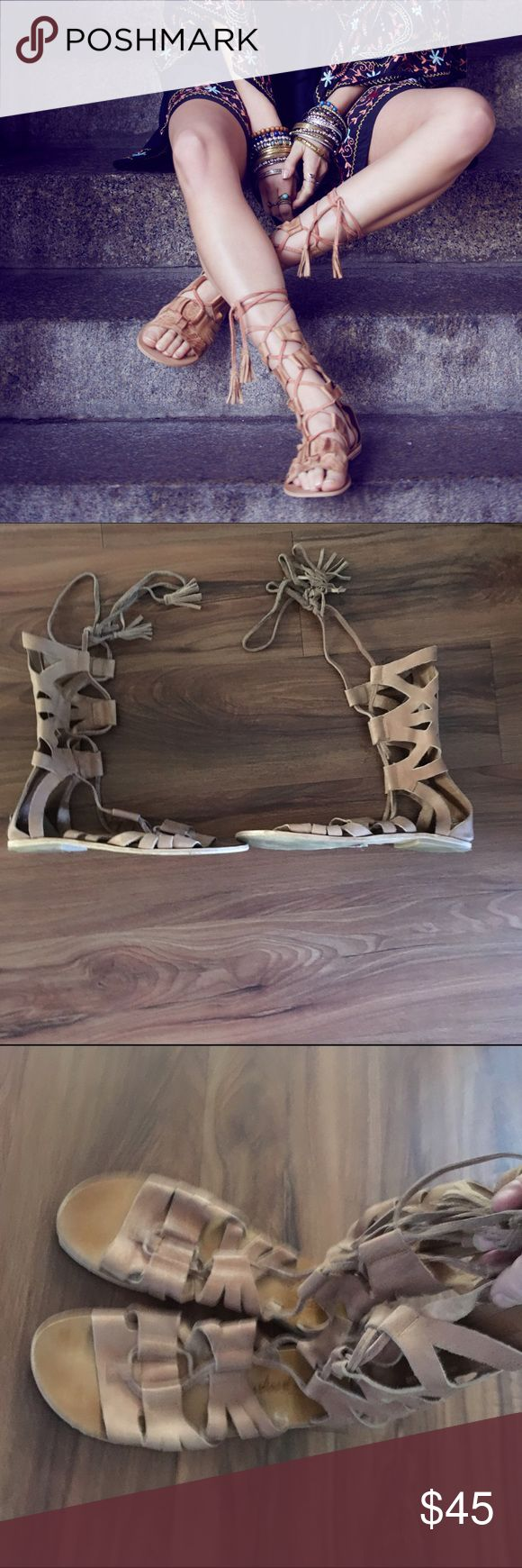 Free people mesa verde suede gladiator sandals 9 Worn only for dress by a non smoker. Size 40 or us 9. Price is firm no offers no trades Free People Shoes Sandals
