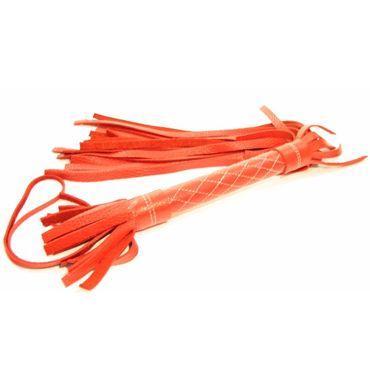 BDSM Арсенал плетка, красная С мягкими шнурами